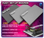 FLAT SET-UP BOARD FOR 1/10 TOURING CARS - DARK GREY