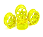 HUDY 24 MM WHEELS STARBURST - YELLOW (4)
