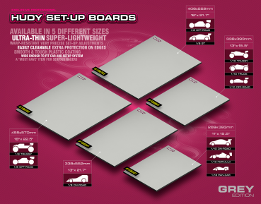 FLAT SET-UP BOARD FOR 1/8 OFF-ROAD & GT - GREY