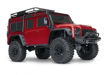 TRAXXAS TRX-4 LR Defender 4x4 rot RTR ohne Akku/Lader 1/10 4WD Scale-Crawler Brushed