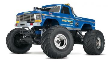 SLVR TRAXXAS BIGFOOT No.1 RTR +12V-Lader blau 1/10 Monster Truck (12T+XL-5)
