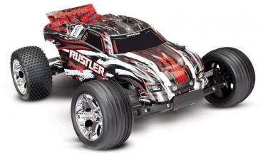 TRAXXAS Rustler rot RTR ohne Akku/Lader 1/10 2WD Monster Truck Brushed