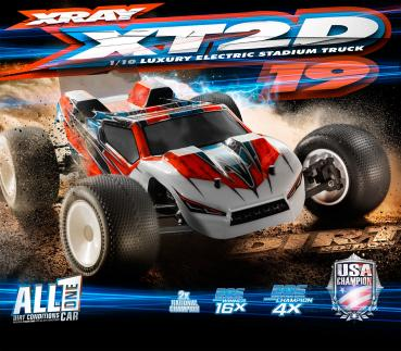 XRAY XT2D'19 - 2WD 1/10 ELECTRIC STADIUM TRUCK - DIRT EDITION