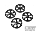 ALU SET-UP WHEEL FOR 1/10 RUBBER TIRES (4)